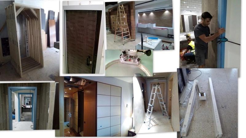 Montaje de mobiliario en hoteles y elementos de carpintería