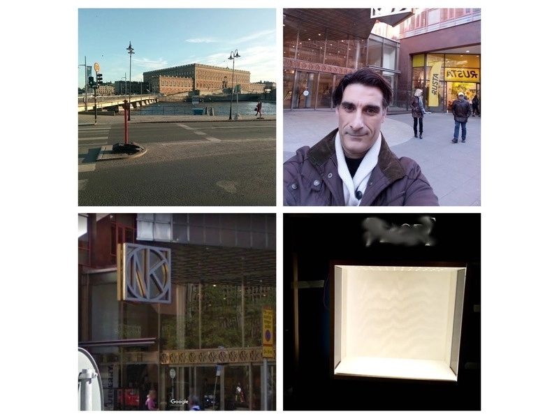 Estocolmo - Suecia Montaje de columna en centro comercial internacional para relojerías