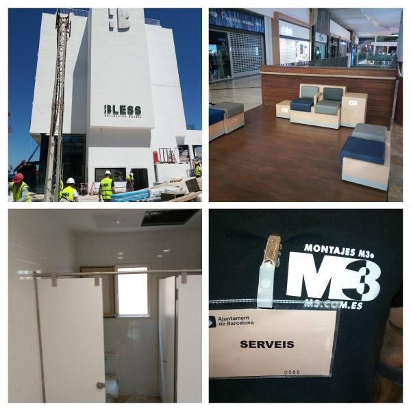 Montaje de mobiliario de cabinas fenólicas en hotel  y centros comerciales en mayo