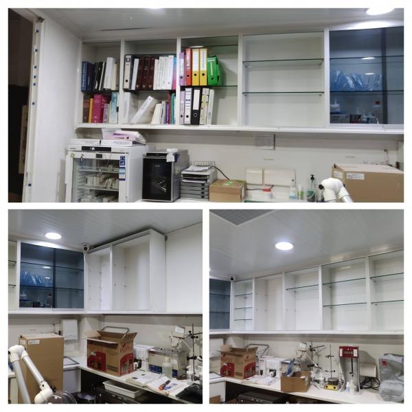 Servicio de montaje de mobiliario de laboratorio para farmacia