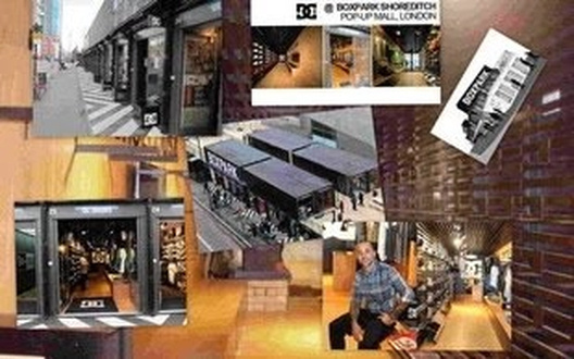 Montaje mobiliario comercial para la firma DC SHOES