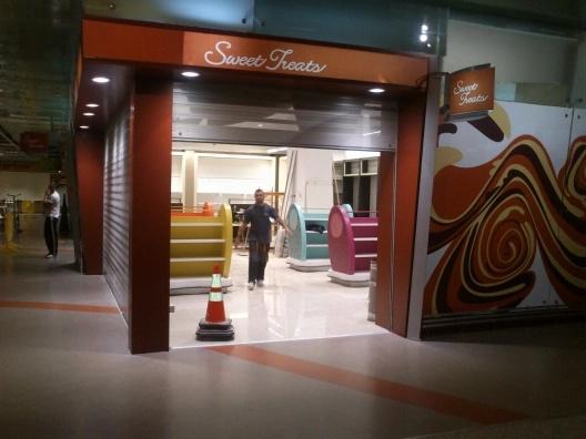 montaje de muebles en aeropuertos