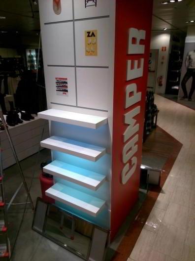 Montaje de muebles comerciales